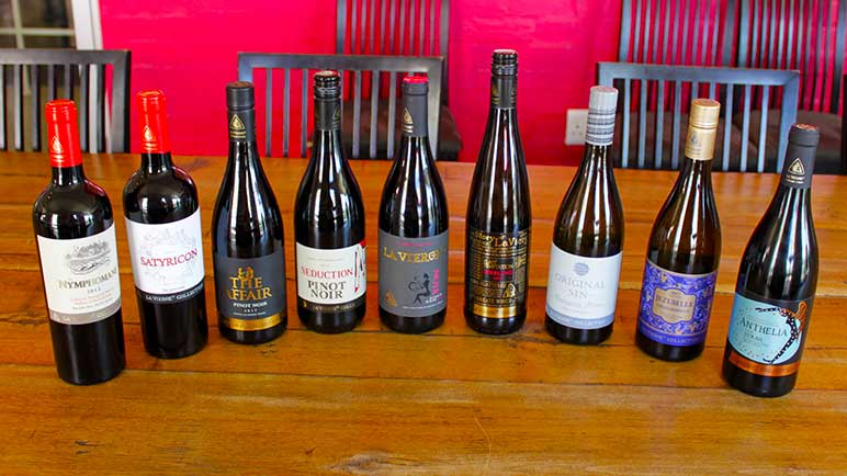 Full range of La Vierge Wines